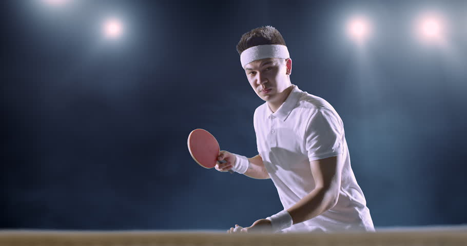 Asian ping pong player playing with their ping pongs 3