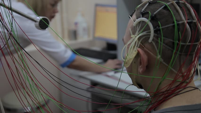 A male patient undergoes medical research using new electronic medical technologies. Cyber technology in medicine. Medical progress | Shutterstock HD Video #30132136