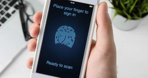 Scanning fingerprint for verifying identity