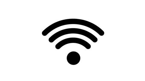Animation icons Wi-Fi on white background
