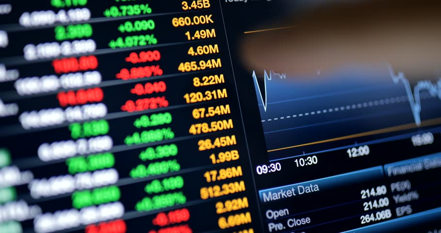 Online stock market trading floor on the screen of tablet | Shutterstock HD Video #30206860