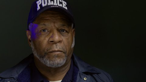 Portrait of an African American police officer