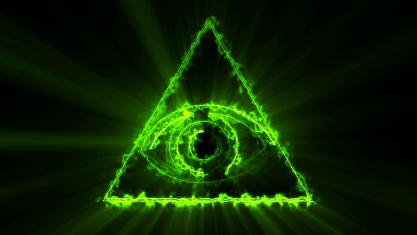 eye of providence  illuminati concept   background is