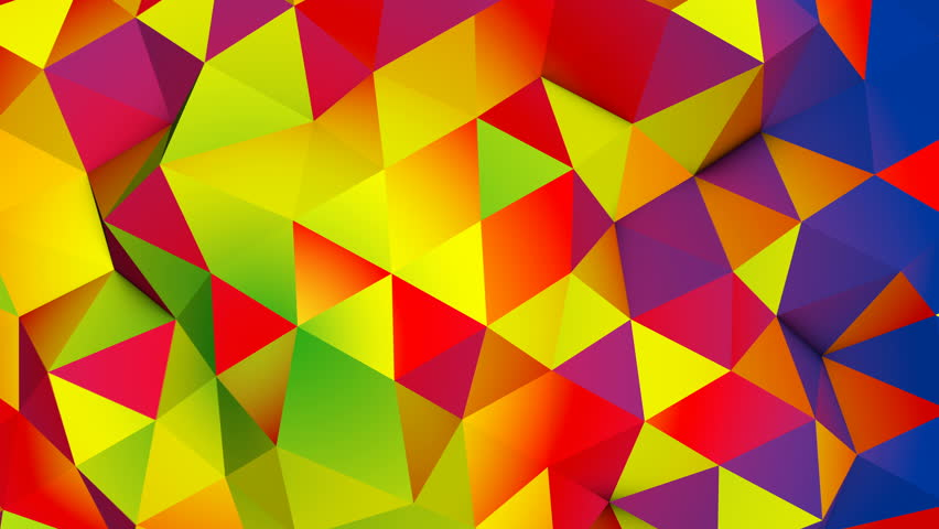Vivid colorful polygonal surface. Semless loop smooth animation with motion blur. Abstract geometric 3D render 4k UHD (3840x2160)   Shutterstock HD Video #30257410