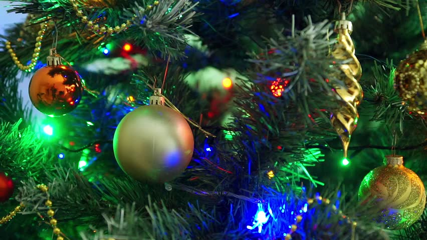 Christmas Tree Balls.Christmas Balls Hang On The Stock Footage Video 100 Royalty Free 30281740 Shutterstock
