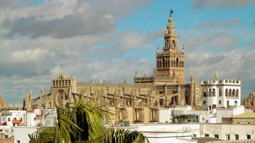 Giralda is bell tower of Seville Cathedral in Seville, Spain. It was originally built as minaret during Moorish period, during reign of Almohad dynasty with Renaissance style top.