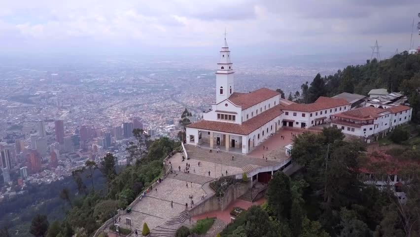 Majestic views of downtown Bogota from Monserrate  | Shutterstock HD Video #30386440