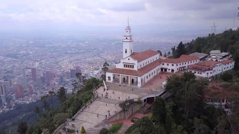 Majestic views of downtown Bogota from Monserrate