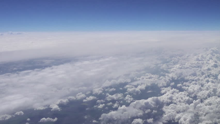 Flying over the clouds. Clouds and skyline horizon panoramic view. | Shutterstock HD Video #30432220