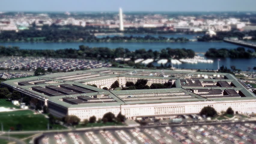 Aerial view of the Pentagon Building in Washington, DC.