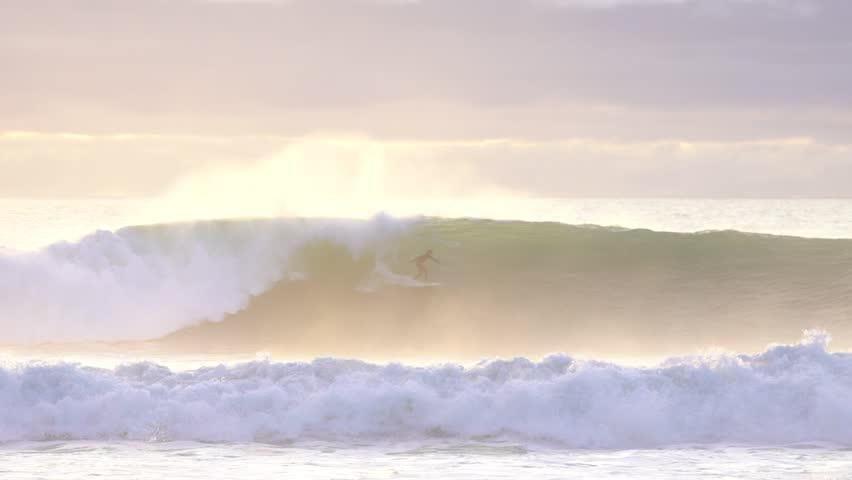 SURFING SUNSET SLOW MOTION | Shutterstock HD Video #30465610