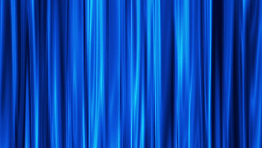Blue Curtains open, white background
