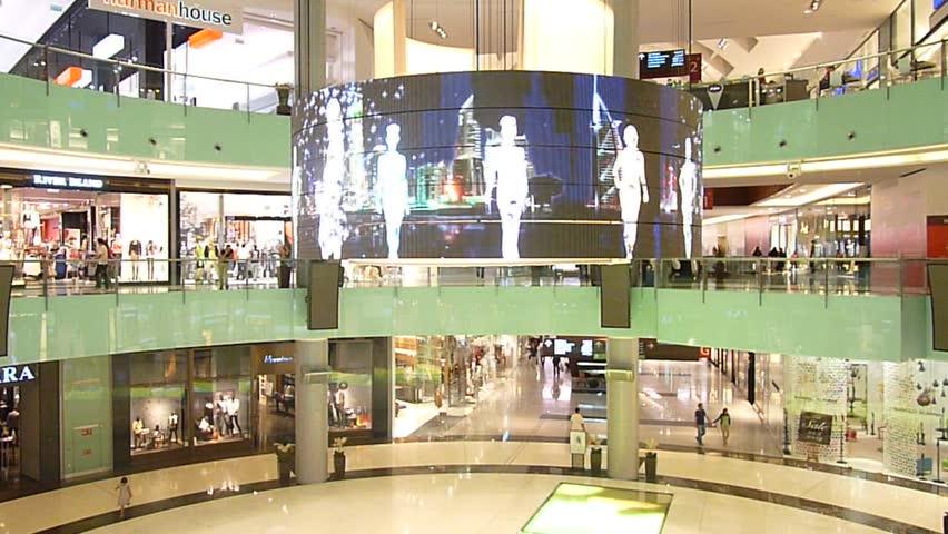 DUBAI, UAE - FEBRUARY 19: Shoppers and Visitors at Dubai Mall 7th largest mall in the world February 19, 2010 in Dubai, United Arab Emirates.