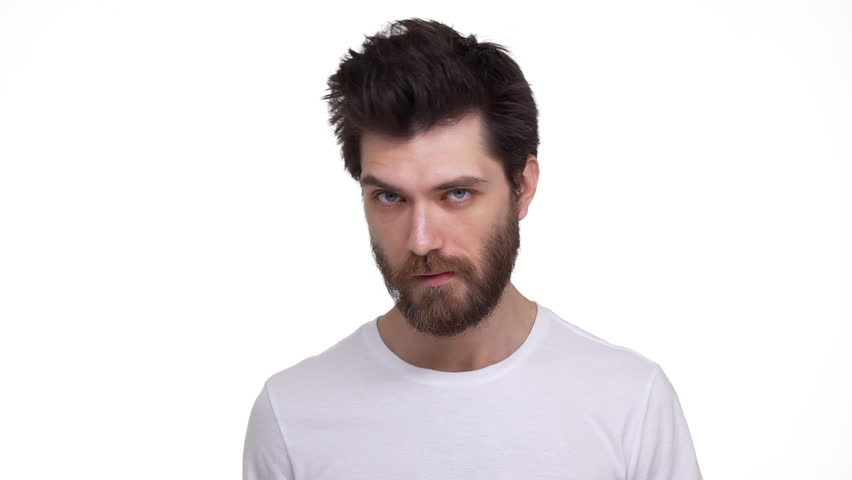 Young bearded male checking himself out in mirror looking confident   Shutterstock HD Video #30519520
