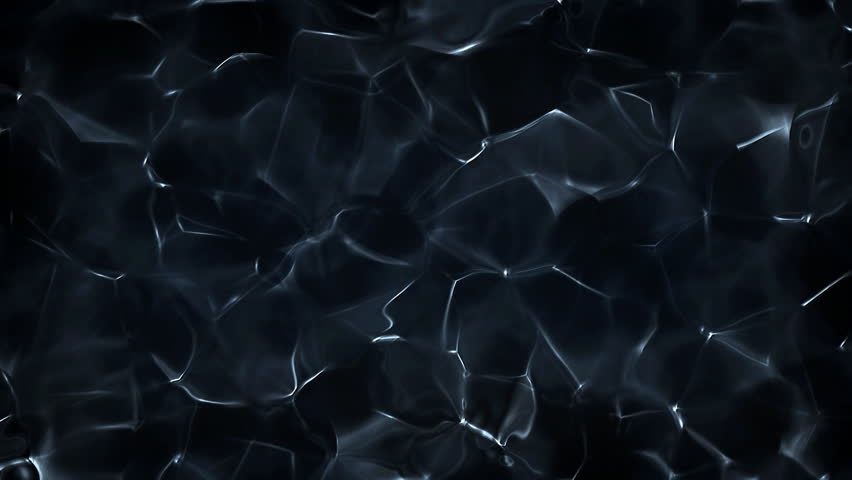 Blue And Fancy Micro Organic Water Surface Soft Motions In Dark cold Environment In Molecular Scale