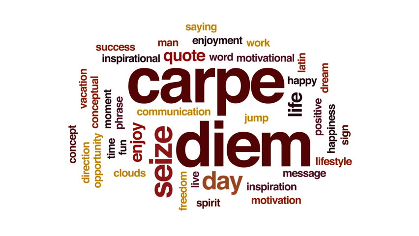 Carpe Diem Animated Word Cloud Stock Footage Video 100