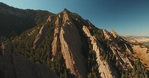 Flatirons Boulder Colorado Aerial Shot 3
