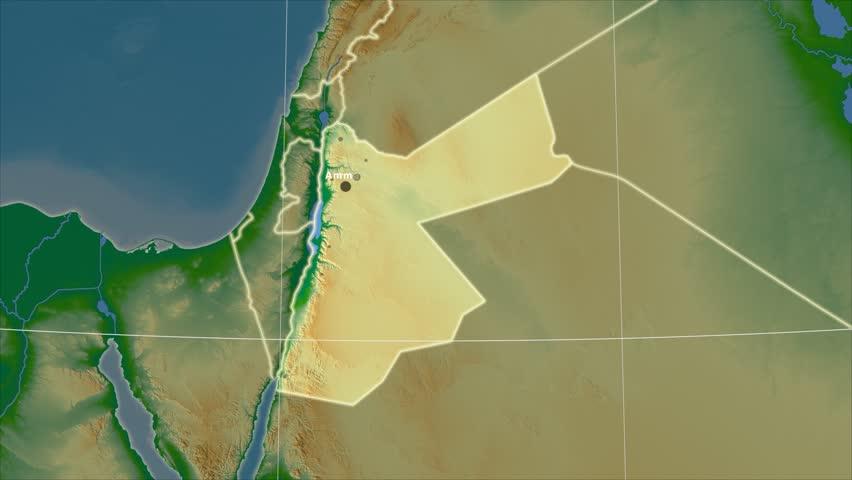Jordan Map Stock Footage Video Shutterstock