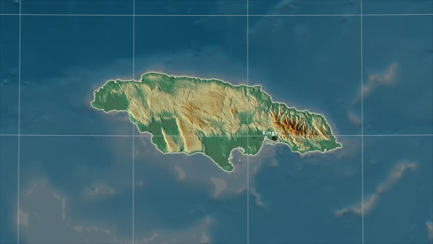 Stock video of the jamaica area map in the | 30638392 | Shutterstock
