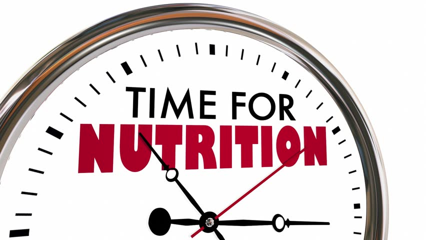 Time for Nutrition Eat Healthy Clock 3d Animation #30651325