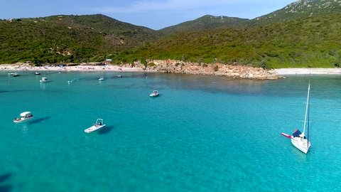 Boats on turquoise sea - Corsica