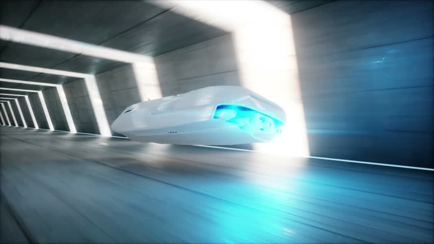 Abstract Animation Of A Futuristic Blue Car In 4k Uhd Cgi