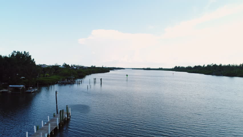 Pine Island Bay in Vero Beach, Florida. Aerial