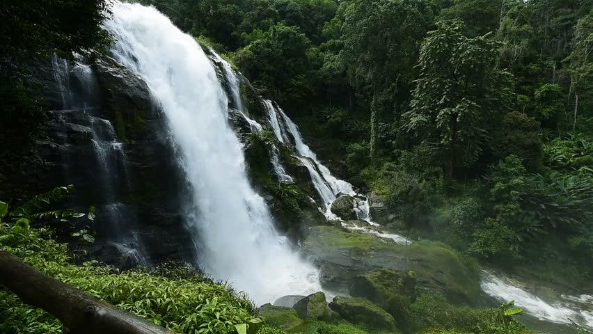 Wachiratarn water fall in Doi Inthanon national park, Chiang Mai, Thailand (slow motion) | Shutterstock HD Video #30773770