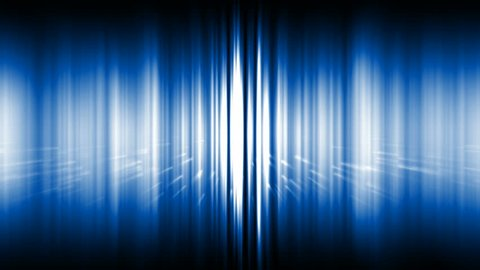 dazzling blue noise rays light & particles in space,audio rhythm,static waveform degraded.