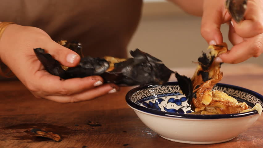 Roasted Eggplant with Lemon Tahini Dressing date honey Jalapenos olive oil | Shutterstock HD Video #30858820
