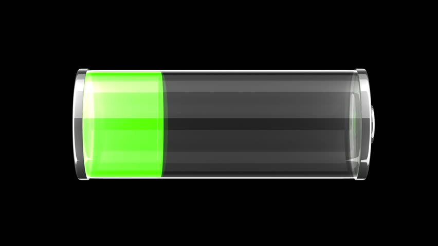Glass green battery charging
