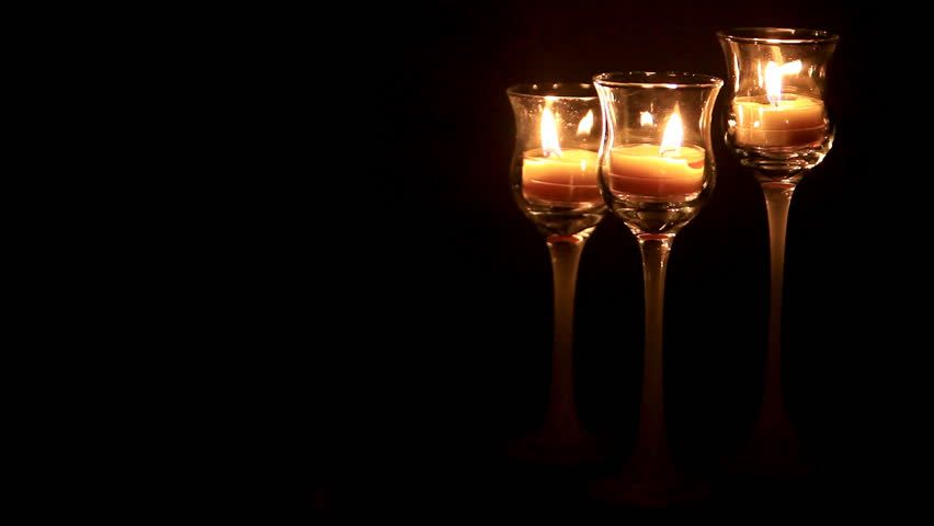 Glowing candles with room for text  | Shutterstock HD Video #309130