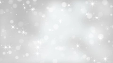 Moving White Fairy Christmas Lights Abstract Background