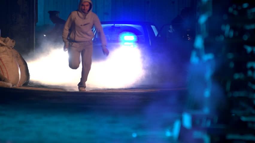 Police operation. Criminal pursuit