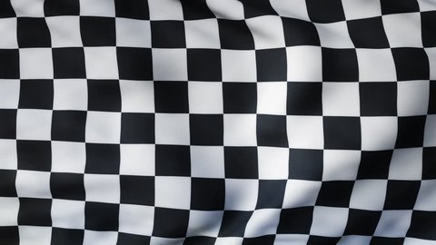WINNER! A checkered flag waving in the wind. The checker flag flaps in the breeze, filling the whole frame. See portfolio for similar and much more!