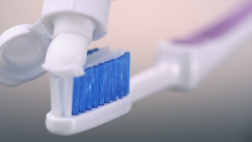 Toothbrush Paste On Toothbrush Shooting Stock Footage Video (100%  Royalty-free) 3107080 | Shutterstock