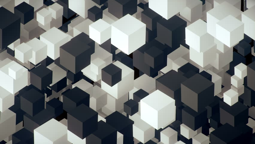 Vertical flow of randomly displaced cubes flying in 3d space animated background  | Shutterstock HD Video #31092238