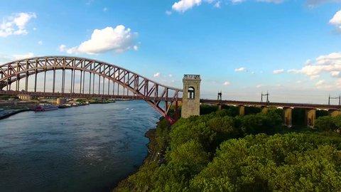 Hell Gate Bridge 02 - Aerial