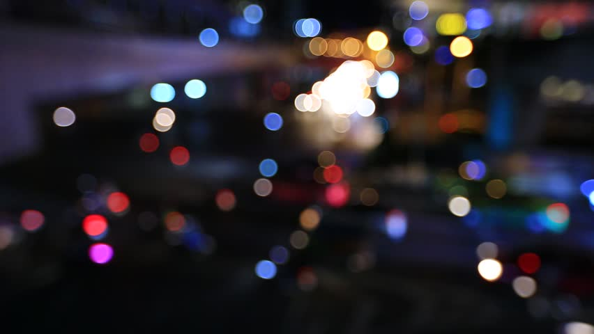 City view at blurred bokeh of car and night traffic lights Bangkok | Shutterstock HD Video #31138600