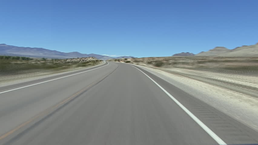 Fast time lapse POV of driving from Alamo, Nevada on Highway 93 to the junction/east end of Highway 375