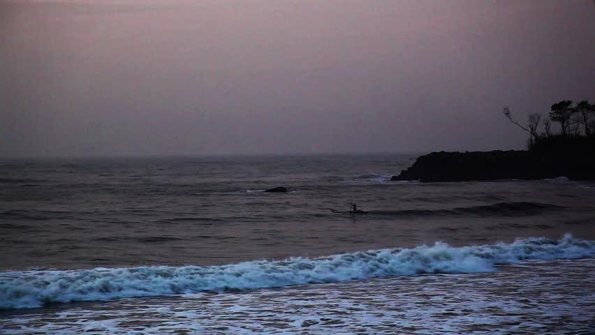 Shot of a boat moving in an ocean, Mahabalipuram, Kanchipuram District, Tamil Nadu, India
