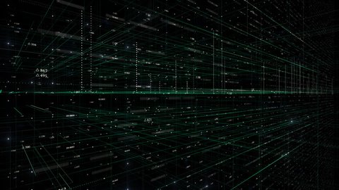 PNG Abstract geometrical technology background.Animated grid lines and Digits.Looping HUD elements animation.Technological intro.Sci fi background. Perfect tech screensaver.Type 3