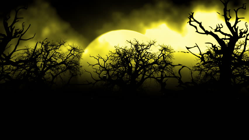 01629 a creepy graveyard halloween background scene with - Scary animated backgrounds ...
