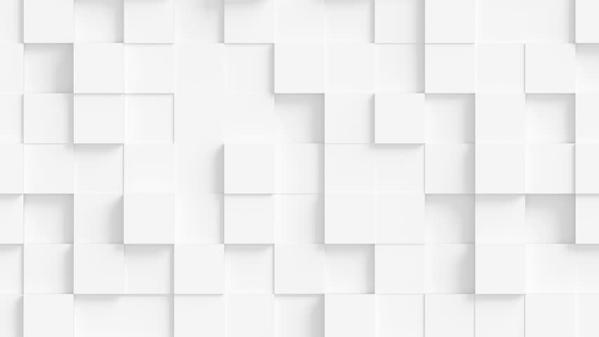 Abstract Square Geometric Surface Loop 1A: light bright clean minimal squares grid pattern, random waving motion background canvas in pure wall architectural pearl white. Seamless loop 4K UHD FullHD. | Shutterstock HD Video #31208530