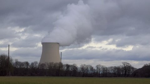 4K footage of the Isar 2 nuclear power plant in Essenbach, Germany