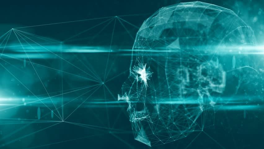 Artificial intelligence AI deep learning computer program technology 3D rendering