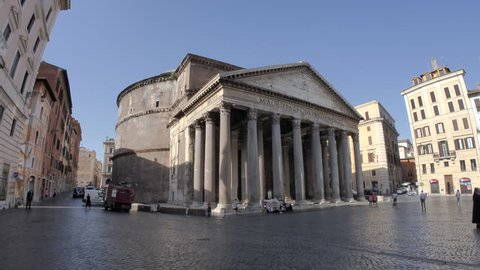 ROME, ITALY - 10 JULY 2017: The ancient Church of Rome - the Pantheon.