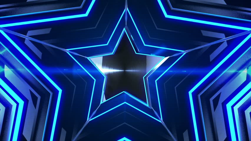 blue glowing stars  abstract 3d render smooth animation