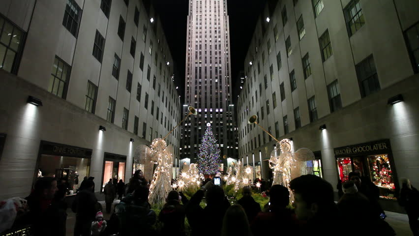NEW YORK - CIRCA December 2012:  Rockefeller Center Christmas tree holiday season