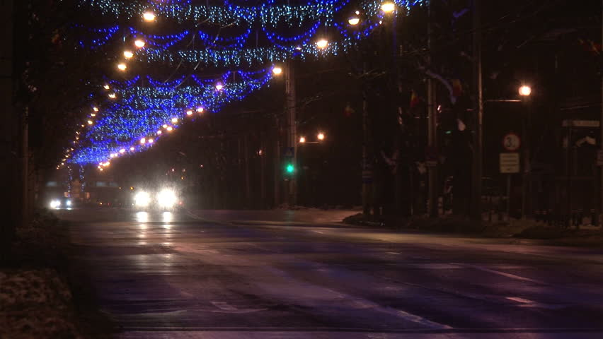 size 40 8d833 95498 Christmas Street Lights and Night Stock Footage Video (100% Royalty-free)  3151810 | Shutterstock